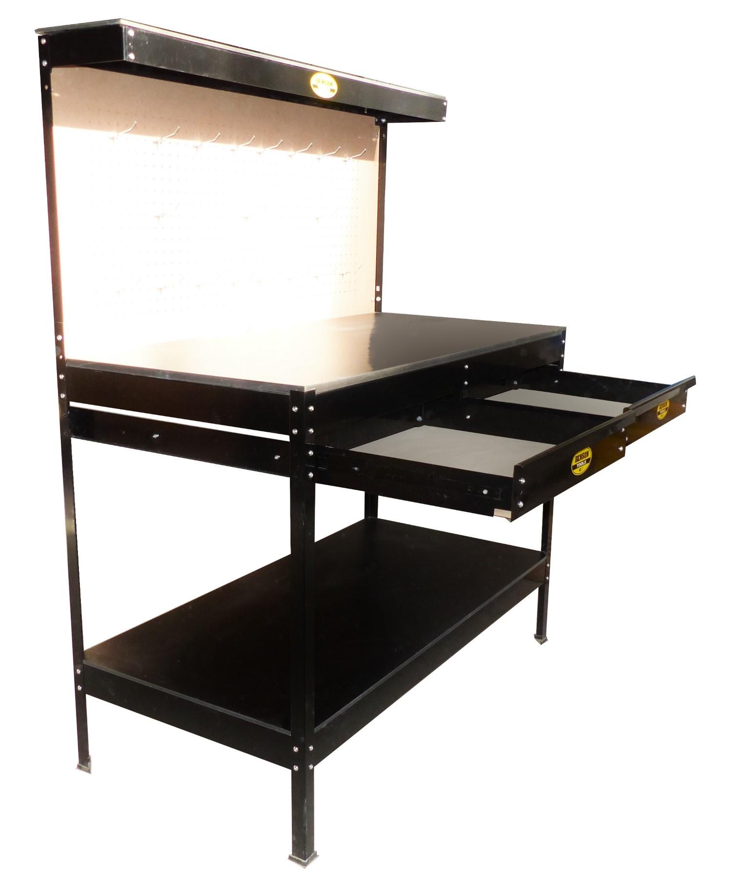 werktisch werkbank arbeitstisch arbeitsplatte werkzeugtisch lochwand schubladen ebay. Black Bedroom Furniture Sets. Home Design Ideas