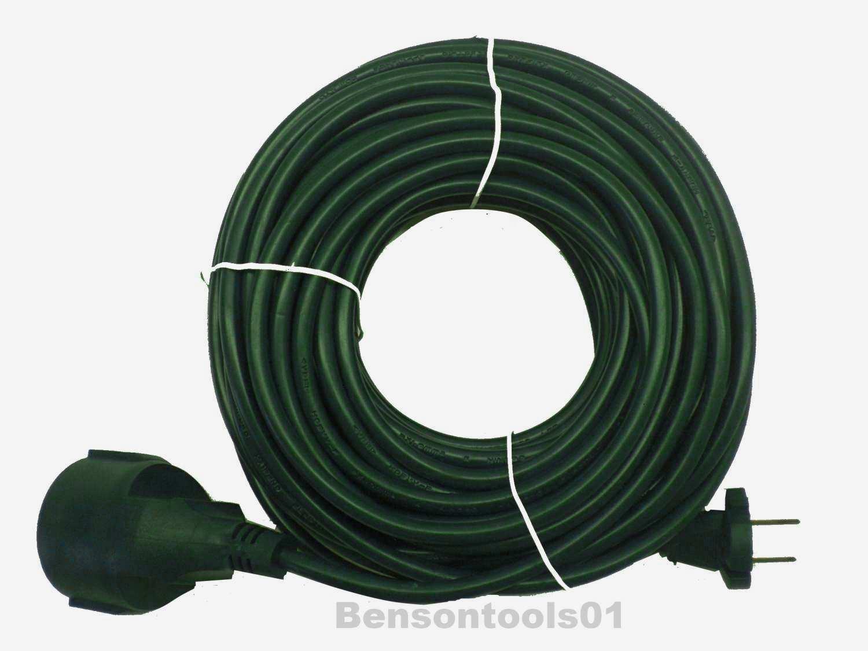 Alargador cable corriente cable de extensi n h05vv f 20 m for Alargador de corriente