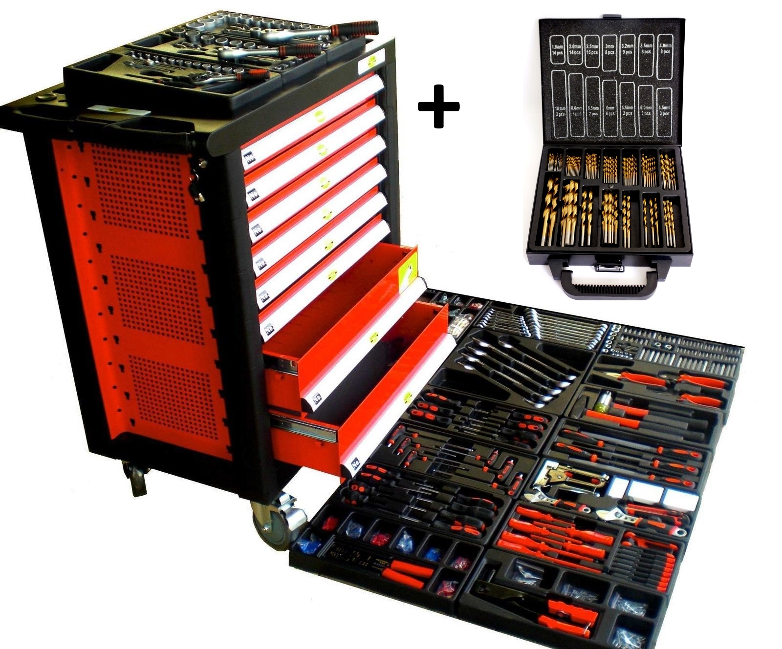 werkstattwagen 1714 tlg xxl werkzeugwagen gef llt best ckt. Black Bedroom Furniture Sets. Home Design Ideas