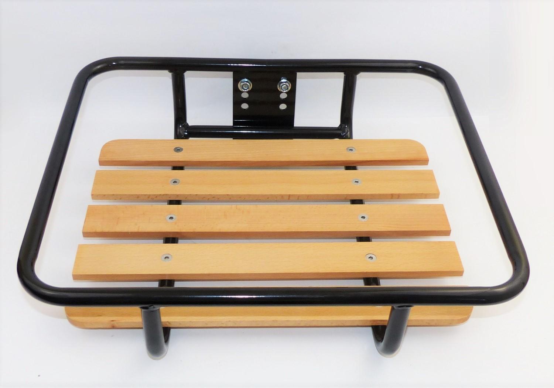 fahrrad gep cktr ger vorne transport schwarz tr ger holz stahl fronttr ger 25 kg ebay. Black Bedroom Furniture Sets. Home Design Ideas