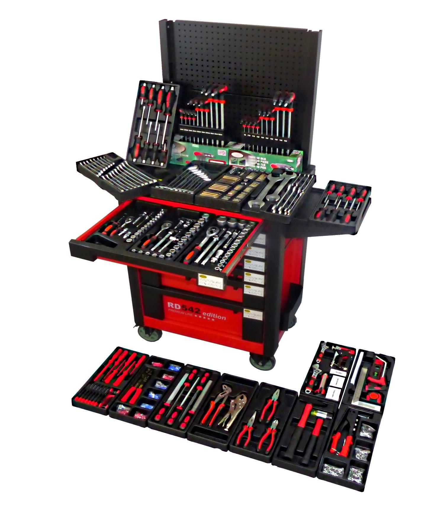 xxxl werkstattwagen gef llt werkzeugwagen werkzeugschrank werkzeugkasten toolbox ebay. Black Bedroom Furniture Sets. Home Design Ideas